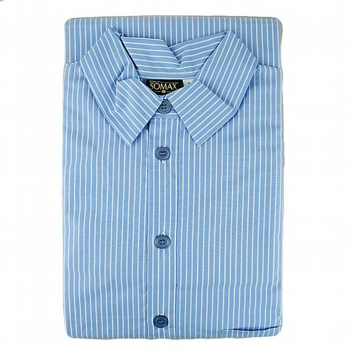 Nightshirt  - Luxury Lawn Cotton From Ireland - Sky Blue